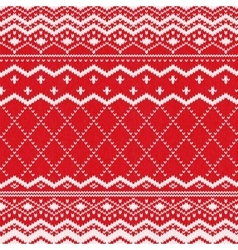 Scandinavian knitted pattern or nordic ornament vector
