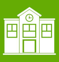 school icon green vector image