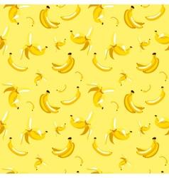 seamless pattern of bananas on yellow vector image