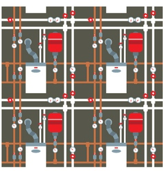 Seamless pattern on the boiler room vector