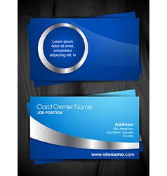 shiny business card vector image