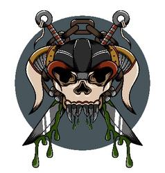 Skull demon hardcore vector