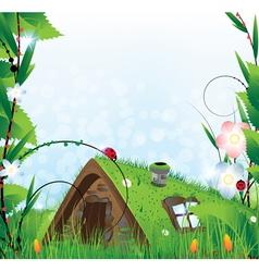 Small fairy house vector image