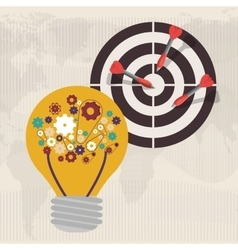 Strategy and solutions design vector