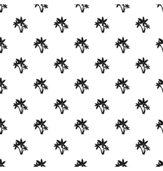 Three little leafs pattern simple style vector