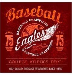 Vintage baseball logo emblem badge and design vector