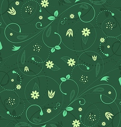 Vintage floral background with spiral elements vector image