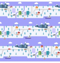 Winter small town vector