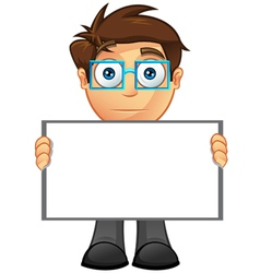Business man blank sign 15 vector