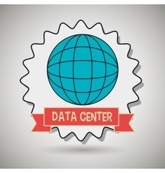 Data center global world vector