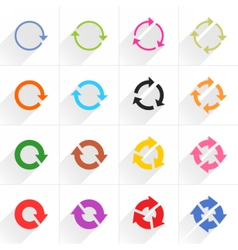 Color arrow icon refresh rotation repeat sign vector