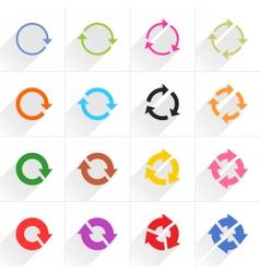 Color arrow icon refresh rotation repeat sign vector