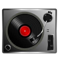 vinyl record deck vector image