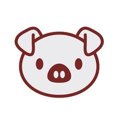cute piggy face image vector image