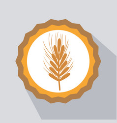 Nice emblem of wheat branch design vector