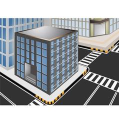 Townscape cartoon vector image