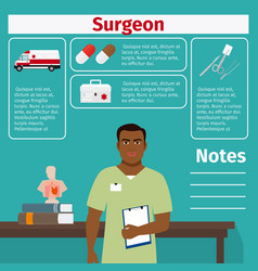 Surgeon and medical equipment icons vector