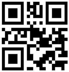 Qr code says free trial vector