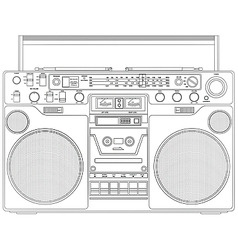 portable tape player vector image