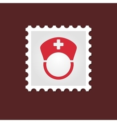 Nurse medical stamp vector