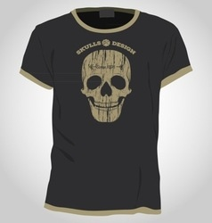 Skull t-shirt design template vector