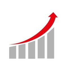 Financial growing statistics graphic vector