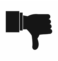 Thumb down gesture icon simple style vector