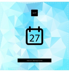Abstract light blue polygonal background vector image vector image