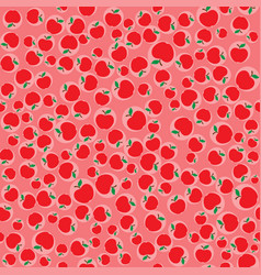 Apples red seamless pattern background vector