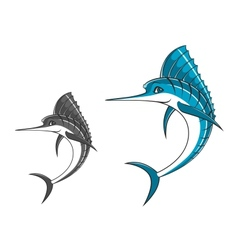 Big blue marlin vector image vector image