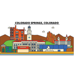 coloradosprings city skyline architecture vector image vector image