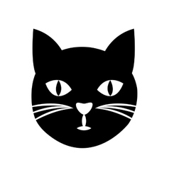 cute cat mascot isolated icon vector image vector image
