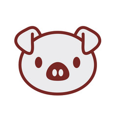 Cute piggy face image vector