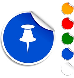 Drawing-pin icon vector image