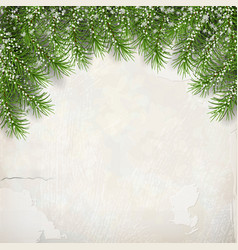 Fir tree on plaster wall background vector