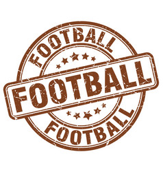 Football stamp vector