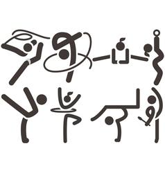 Gymnastics Rhythmic icons vector image