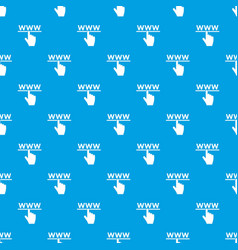 hand cursor and website pattern seamless blue vector image vector image