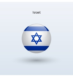 Israel round flag vector