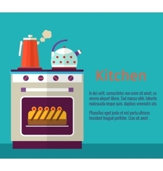 Kitchenware concept with oven vector
