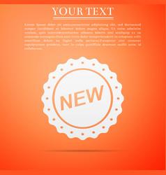 label new sign icon isolated on orange background vector image