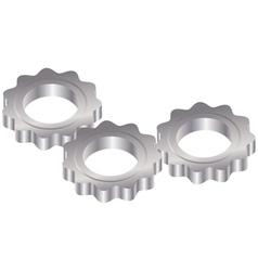Metal gears vector
