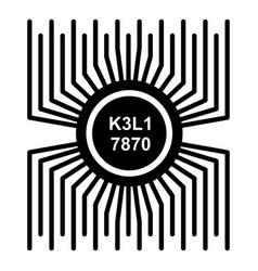 microprocessor icon simple black style vector image vector image