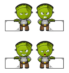 Monster With A Blank Board vector image vector image