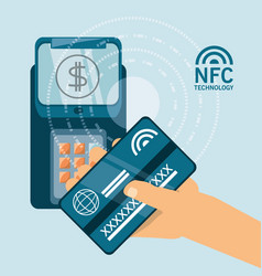 Nfc payment design concept vector