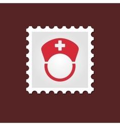 Nurse medical stamp vector