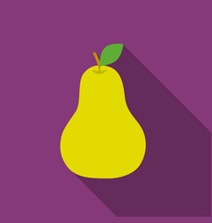 Pear icon flat singe fruit icon vector