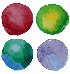 Set of watercolor round backgrounds vector image vector image