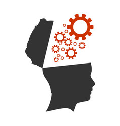 Silhouette of a human head vector