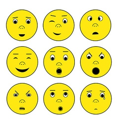 Smile emoticon set vector